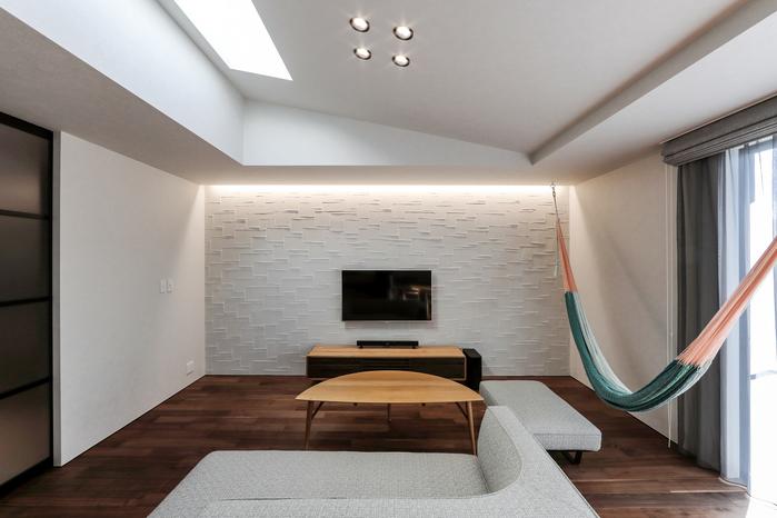 tile と hammock の家